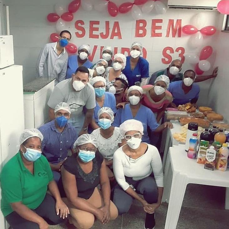 S3Saúde_Café de boas-vindas é realizado na Upa de Valéria para comemorar a chegada da S3